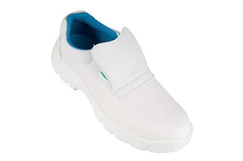 K&G ARDON S2 VALI Arbeitsschuhe Küchenschuhe Kochschuhe Weiß Koch Schuhe mit Schutzkappe Laborschuhe Unisex (43)
