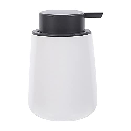 Cabilock Bombas de cerámica rellenables de metal, loción líquida, dispensador de jabón para baño, cocina, lavabo, contador, dispensador, botellas