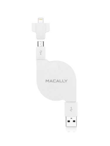 Macally Cable de carga y sincronización retráctil