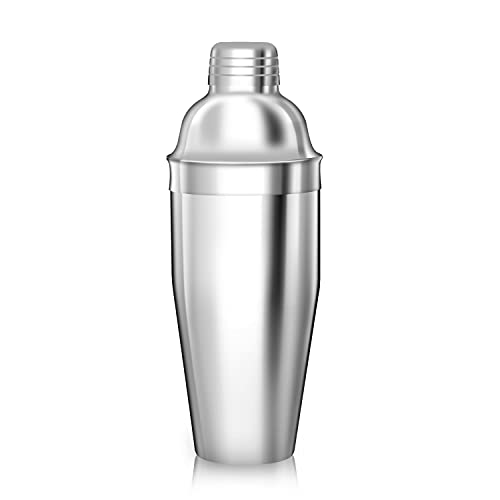 Cocktail Shaker 750ML,Martini Cocktail Making Set,Stainless Steel Leak Proof Cocktail Mixer with Strainer,TAHAILIN Cobbler Shaker