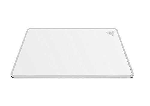 Razer Invicta Gaming Mouse Pad: Aircraft-Grade Aluminum Base - Included Double-Sided Mat Surface for Personalization - Anti-Slip Rubber Base - Mercury White