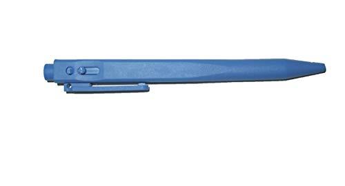 Bolígrafo retráctil con clip azul (10 unidades)