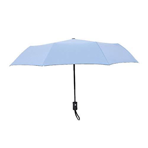 Vinilo protector solar plegable de diez huesos paraguas automático soleado lluvia paraguas regalo publicidad paraguas paraguas-8k vinilo paraguas automático-celeste claro