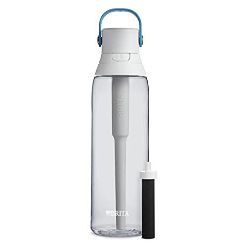 brita bpa free water bottles Brita Premium Filtering Water Bottle, 26 Ounce, Clear