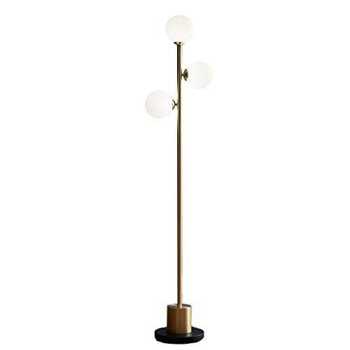 NYKK Lámpara de pie Simple Creativo Lámpara de pie Sala de Estar Dormitorio Estudio de cabecera Lámpara de Mesa Vertical Interruptor de pie -9W Luz cálida LED Lámpara de Piso