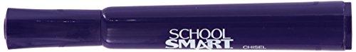 School Smart 1354264 Permanent Marker, Broad Chisel Tip, Purple (Pack of 12)