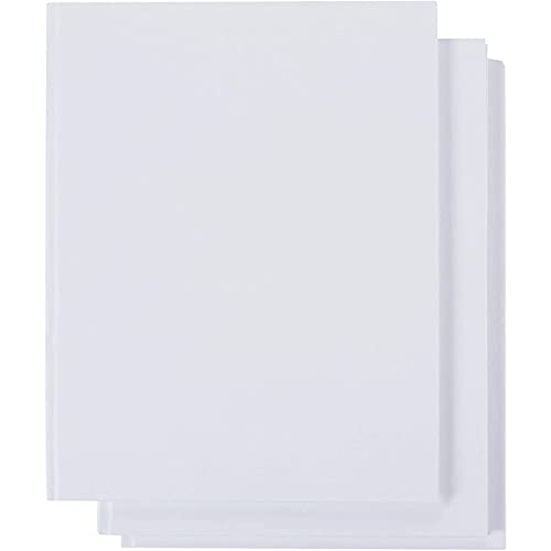 Hardcover Blank White Books for Students, Sketching, Story Writing (8.5 x 11 In, 3 Pack)