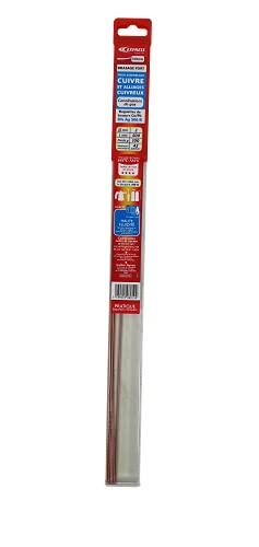 EXPRESS 506010 Aluminium-Baguette à souder Froid-Flux Soudure-Brasure 6% AG-agréé ATG-Ø 2 mm-L 500 mm-pour Assemblage cuivre et alliages cuivreux. Spécial canalisation gaz, Aucune