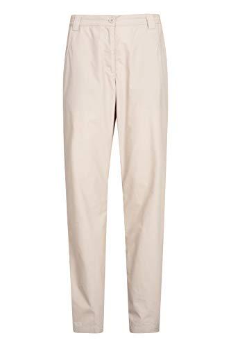 Mountain Warehouse Quest Pantalones para Mujer - Ligeros, de Verano, Transpirables, Ropa de fácil Cuidado para Exteriores - Lo Mejor para Caminar, Viajes, Senderismo Beige 48