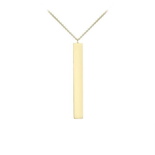 Carissima Gold Damen 9k (375) Gelbgold 4.9mm x 39.7mm Senkrechtstrich Verstellbar Halskette 41cm/16zoll-43cm/17zoll 1.19.7490