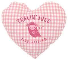 Zirbenkissen - Herzform - rosa - Eule