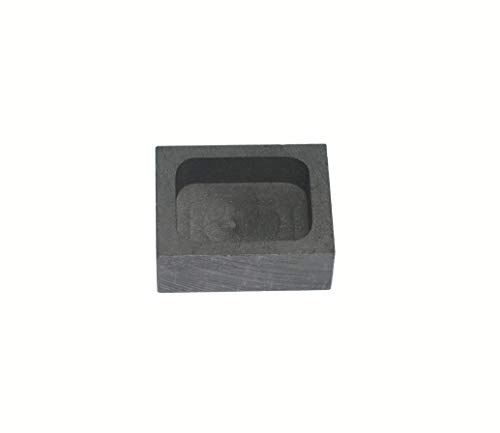 Gold Silver Graphite Ingot Mold Mould Crucible for Melting Casting Refining (50g)