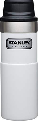 Stanley Legendary Classic Einhand-Vakuum-Thermobecher 0.47 L, Polarweiß, 18/8 Edelstahl, Doppelwandig Vakuumisoliert, Isolierbecher Kaffeebecher Teebecher Trinkbecher