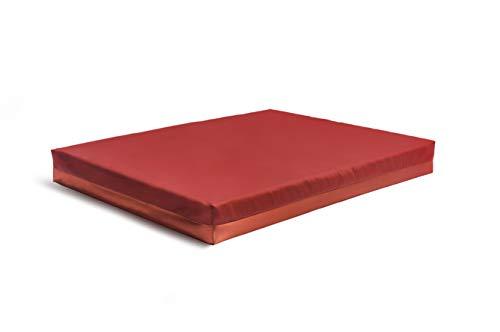 Ribelle Colchón 100% látex. Cojín de cama para perrera, grande, para perros, cachorros, mascotas, suave, lavable, ortopédico (mediano, naranja)