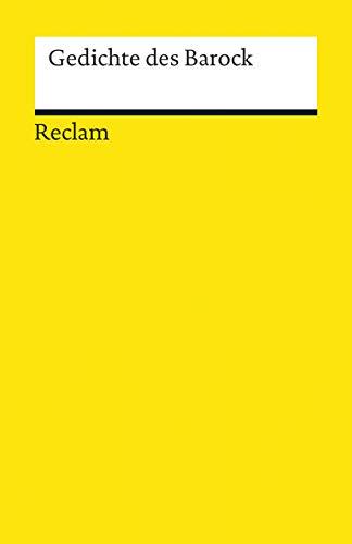 Gedichte des Barock (Reclams Universal-Bibliothek)