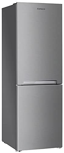 Corberó E-CCH315EX Frigorífico Combi 185x60 No Frost, Cápacidad Neta de 293L, 185 cm de Alto, Tirador Integrado, Puertas Reversibles, Cajones Crisper, Color Inox, 40 dBA, Eficiencia Energética F