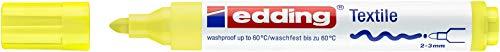 edding Textilmarker edding 4500 creative, Rundspitze, 2-3 mm, neongelb