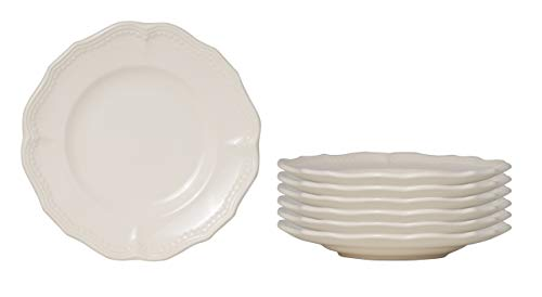 Red Vanilla Classic White Bread and Butter Plate 7', Set of 6, 1
