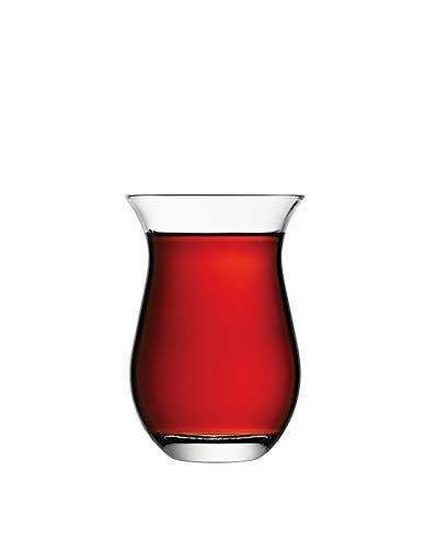 Pasabahce Grosse Türkische Teegläser, Orientalisches Teeglas 6 Stück, Galata 42611
