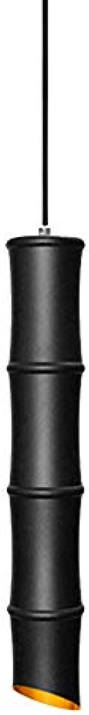 WUMINGHU Postmodern Verstellbare Bambus Aluminium Kronleuchter Moderne 30 ° Bamboopendant Lampe Original Minimalistische Kunst Deckenleuchte Individuelle Deckenleuchte (Farbe   Schwarz)