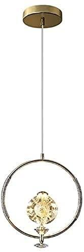 Dkdnjsk Lámpara de luz del techo de cristal Nordic Clear Forma redonda K9 Mesa de comedor de cristal Lámparas de araña pequeña Luz de lujo moderno DIRIGIÓ Acabado de iluminación Colgante de cabecera s