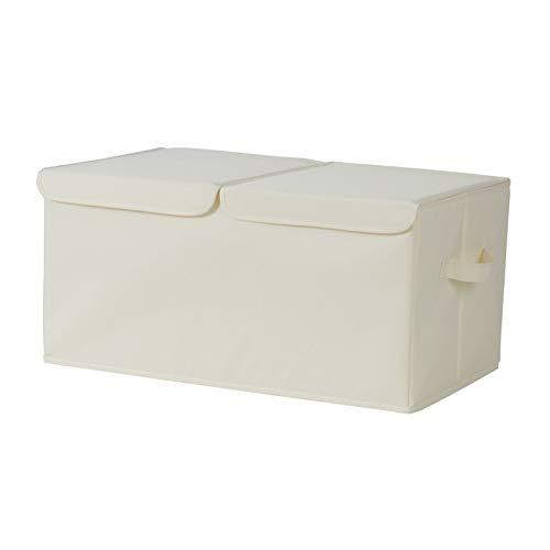 AZYJBF Cajas de Almacenamiento con Tapas, Caja de Almacenamiento con Asas, Caja de Almacenamiento Plegable, Contenedores de Almacenamiento Cestas para Ropa, Juguetes, Arte, Libros,Large