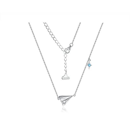 zxb-shop Collar Collares exquisitos de Papel de Papel, la trayectoria del Amor, Tierra en su corazón, Collares de Lujo Ligeros para Mujeres Collar Mujer