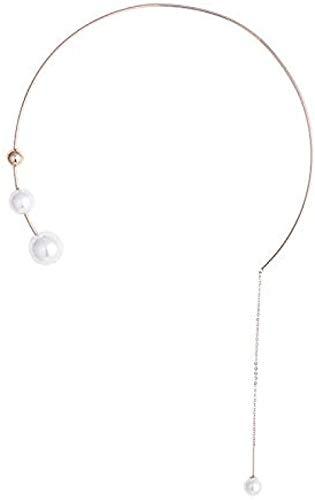 collar collar de flecos cadena femenina cadena de hueso collar colgante