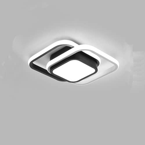 Moderna Lámpara de Techo, 22W LED Luz de Techo, Plafón LED para para Baño, Dormitorio, Pasillo, IP54, 6000K (Luz Blanca Fría)