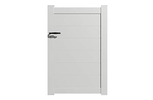 Packit - Portillon aluminium modèle plein en kit dimension L.1000 (entre piliers) x H.1500 mm couleurs Blanc (RAL 9010)