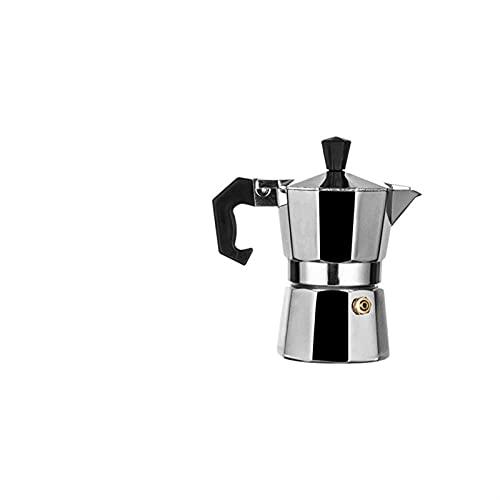 Moka Coffee Pot Aluminio Espresso Maker Fácil de usar y limpiar Máquina de café automática Hogar (Color : 50ml)