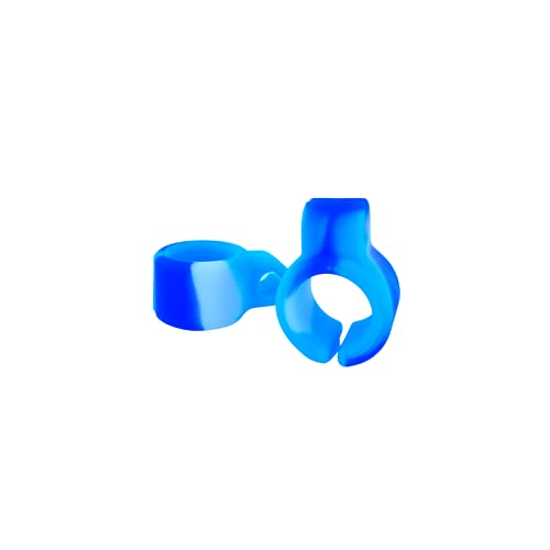 Anillo de silicona para cigarrillo, manos libres, anillo gamer para jugadores de consola y teclado, ideal para conductores (Azul y Blanco)