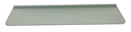 Glasregal 89,5x25 cm Glas Satiniert mit Profil Silber, abgerundete Ecken ROY15 / 1 Regal