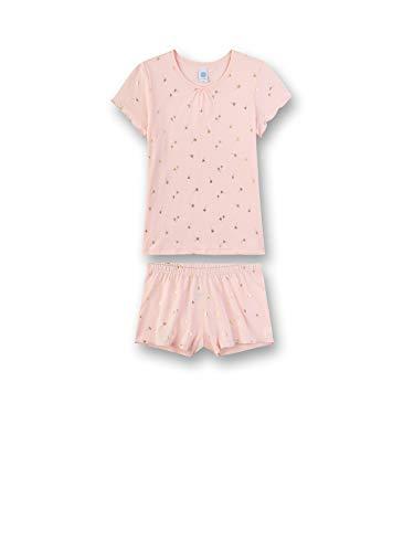 Sanetta Mädchen Pyjama kurz Zweiteiliger Schlafanzug, Rosa (rosa 3990), (Herstellergröße:152)
