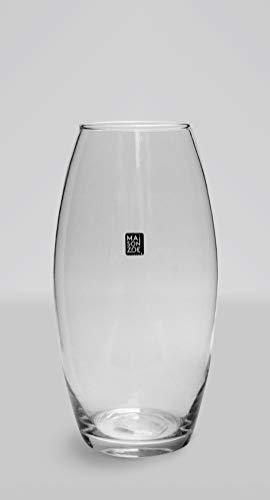 Maison Zoe Mundgeblasene und Handgefertigte Glasvase Amaryllis - 26cm hoch - Blumenvase - Deko & Hochzeit