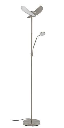 LED Deckenfluter Briloner 1371-022 Stehleuchte Lesearm Nickel matt