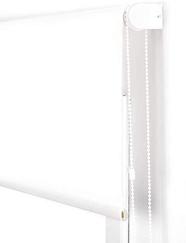 LEMON TREE SL Estor translúcido Liso para Ventana. Estores Enrollables para Ventanas y Puertas. (Blanco, 80 x 180 cm)