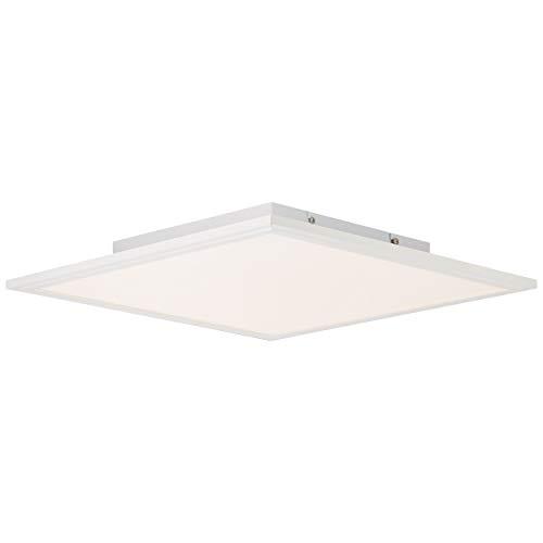 Merrie LED Panel Deckenleuchte per Fernbedienung stufenlos dimmbar, RGB-Hintergrundbeleuchtung, 42x42cm, 32 Watt, 2600 Lumen, 2700 (warmweiß) bis 6500 (kaltweiß) Kelvin in weiß