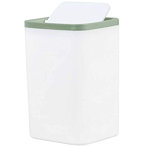 LAMZH Cubo de basura pequeño para escritorio de Ashcan de mesa, para escritorio, coche, basura, color verde