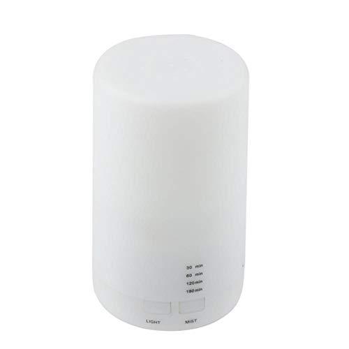 Humidificador ultrasónico Lanlan Air Carga USB 5 Colores Led Luz nocturna Aromaterapia Aceite esencial Difusor de Aroma para EL hogar 213, Blanco