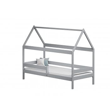 Children's Beds Home - Betthimmel, Einzelbett, Teddy, 140 x 80 cm, grau, keine Schaumstoffmatratze 9 cm