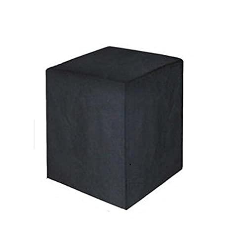 HTLLT Cubierta de Muebles de Jardín, Cubierta Protectora Cuadrada de Ratán para Terraza, Cubierta de Muebles a Prueba de Polvo para Exteriores de Tela Oxford Negra
