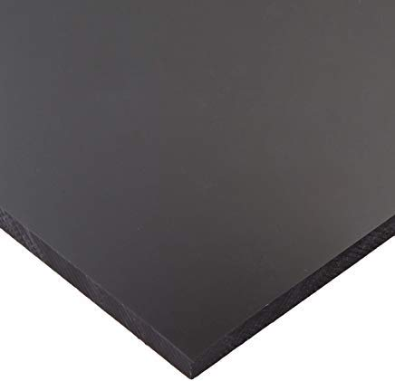 "HDPE Plastic Sheet 1//4"" x 12/"" x 24/"" Black Smooth High Density Polyethylene"