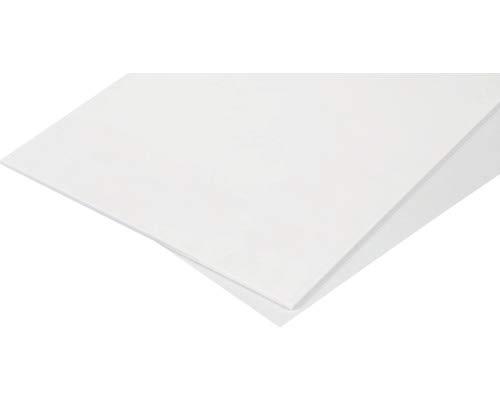 Modellbau Berthold ABS-Platte Weiß 500x300 mm von 0,5 mm bis 3,0 mm Stärke (Stärke 1,0 mm)