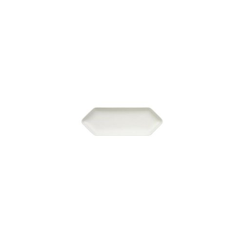 Villeroy & Boch Pi Carre Platte, Premium Porzellan, Weiß, 33x12cm