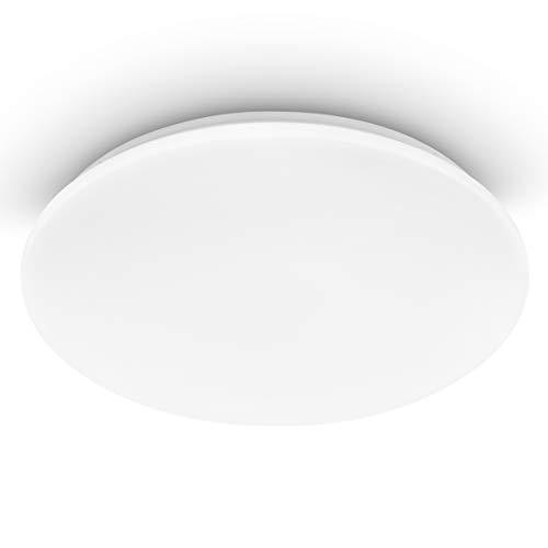 EGLO Lámpara LED de techo Pogliola, diámetro de 50 cm, 1 foco, lámpara de techo de acero y plástico en color blanco, para salón, cocina, oficina, pasillo, techo