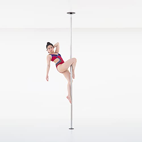 LUPIT POLE Professional Stripper Pole for Home G2 Classic Stainless Steel Dance Pole - 42mm (1.65in) – Spinning and Static Mode - Portable and Removable Fitness Dancing Pole