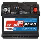 BIG AGM 80Ah C100 12V Solar Batterie Boot Camping Versorgung ersetzt GEL 70Ah 74Ah 75Ah