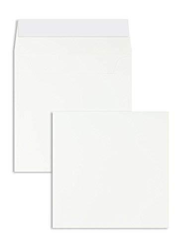 Briefhüllen - Premium - 160 x 160 mm Weiß (100 Stück) mit Abziehstreifen - Briefhüllen, Kuverts, Couverts, Umschläge mit 2 Jahren Zufriedenheitsgarantie
