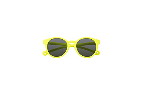 Parafina - Gafas de Sol para Niña y Niño - Protección UV 400 - Gafas de Sol Amarillas con Montura Redonda - Flexibles, Resistentes al Agua - 100% Eco-friendly